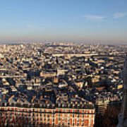 View From Basilica Of The Sacred Heart Of Paris - Sacre Coeur - Paris France - 011330 Poster by DC Photographer