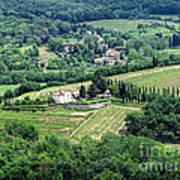View From Castello Vicchiomaggio Poster