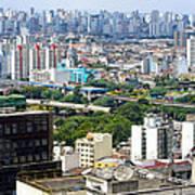 View From Edificio Martinelli 2 - Sao Paulo Poster