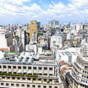 View From Edificio Martinelli - Sao Paulo Poster