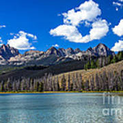 View From Little Redfish Lake Poster