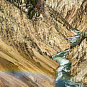 View From Lower Falls Of The Yellowstone River  Poster