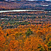 View From Mccauley Mountain Poster