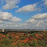 View From Mt Auburn Cemetery Tower Poster