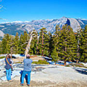 View From Near The Top Of Sentinel Dome In Yosemite Np-ca Poster
