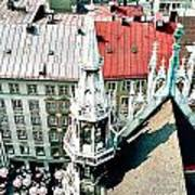 View From The Top Of Munich City Hall Poster