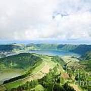 View From The Top Of Sete Cidades Poster