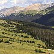 View From The Trail Ridge Road. Poster
