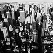 View North And Down Towards Central Park From Empire State Building Poster