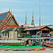 View Of A Temple From Waterway Of Bangkok-thailand Poster