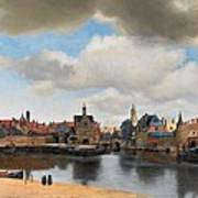 View Of Delft Poster by Johannes Vermeer