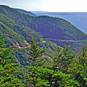 View Of Highlands Road From Skyline Trail In Cape Breton Highlands Np-ns Poster