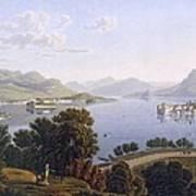 View Of Lake Maggiore And The Borromean Poster