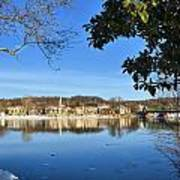 View Of Lambertville Nj From New Hope Pa-winter 1  Poster