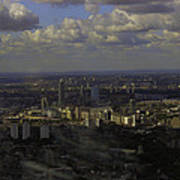 view of London within the Clouds Poster