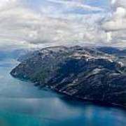 View Of Lysefjord From Preikestolen Poster