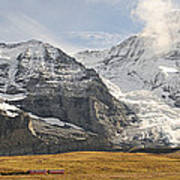 View Of Mt Eiger And Mt Monch, Kleine Poster