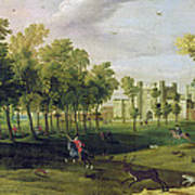 View Of Nonsuch Palace In The Time Poster
