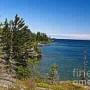 View Of Rock Harbor And Lake Superior Isle Royale National Park Poster by Jason O Watson