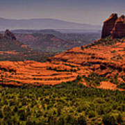 View Of Sedona From The East Poster