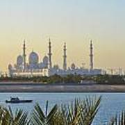 View Of Sheikh Zayed Grand Mosque Poster