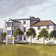 View Of Sir Noel De Carons House, 1809 Wc On Paper Poster