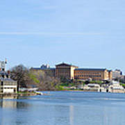 View Of The Art Museum And Waterworks In Philadelphia Poster