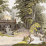 View Of The Cascade At Erlaw, Vienna Poster