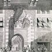 View Of The Door Of Okal Kaid-bey Poster