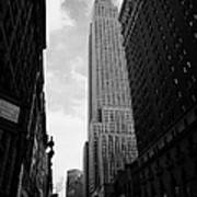 View Of The Empire State Building From West 34th Street And Broadway Junction New York City Poster by Joe Fox