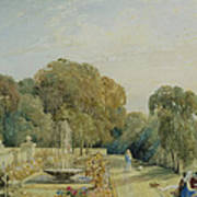 View Of The Gardens At Chatsworth Poster