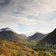 View Of The Glencoe Mountains Poster