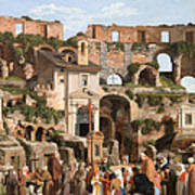 View Of The Interior Of The Colosseum Poster