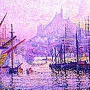 View Of The Port Of Marseilles Enhanced Color Iv Poster