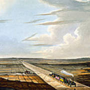 View Of The Railway Across Chat Moss Poster