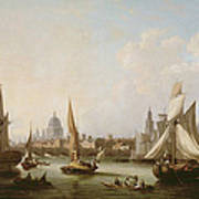 View Of The River Thames  Poster