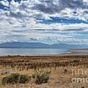 View Of Wasatch Range From Antelope Island Poster