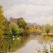 View Of Windsor From The Thames Poster by John Atkinson