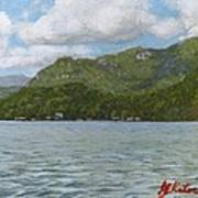 View On Lake Lure Poster