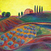 View On The Olive Grove Poster