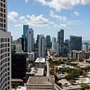 View Over Brickell Miami Poster
