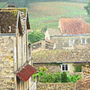 View Over Saint Emilion France 1 Poster