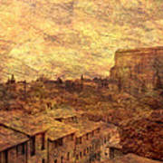 View Over Siena And San Domenico Poster