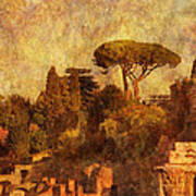 View Over The Forum In Rome Poster