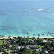 View Overlooking The Coastline Poster