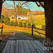 View Through The Meems Bottom Covered Bridge Poster