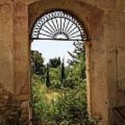 View Through The Monastery Window Poster