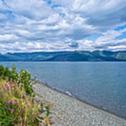 View Two Kluane Lake From Cottonwood Campground Near Destruction Bay-yk Poster
