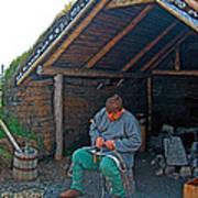 Viking Fisherman At L'anse Aux Meadows-nl  Poster