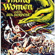 Viking Women And The Sea Serpent Poster Poster by Gianfranco Weiss